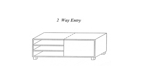 2 Way Entry  Crossover Benches