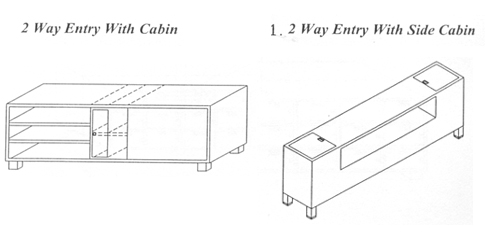 2 Way Entry With Side Cabin Cross Over Benches