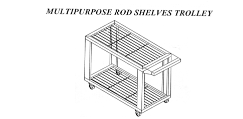 Multipurpose Rod Shelves Trolley