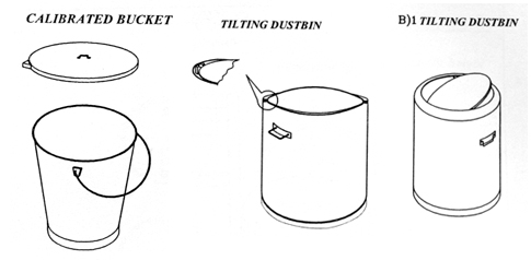 Calibrated Bucket & Tilting Dustbin